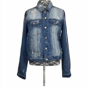 NWT Crave Fame Distressed Denim Jean Jacket